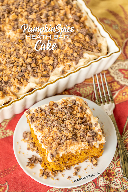 Pumpkin Spice Heath Bar Cake