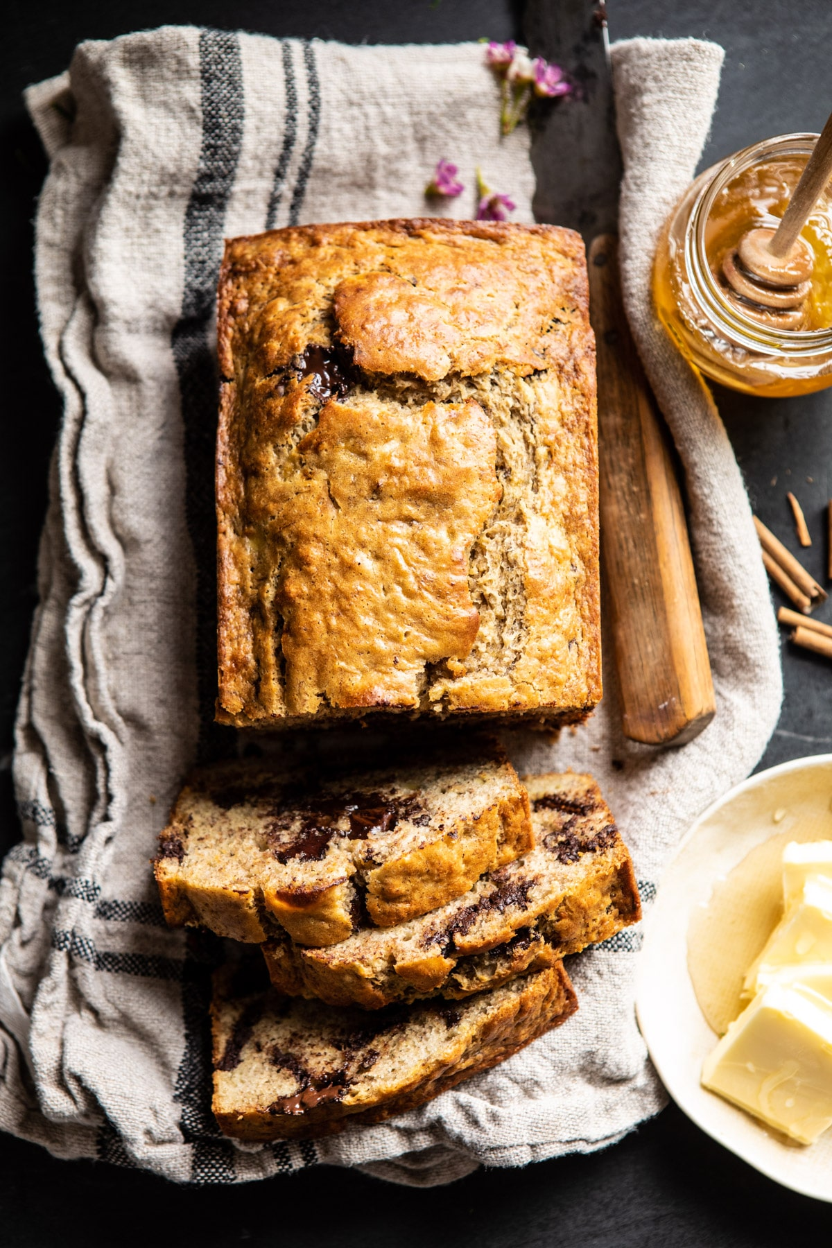Chocolate Chunk Coconut Banana Bread
