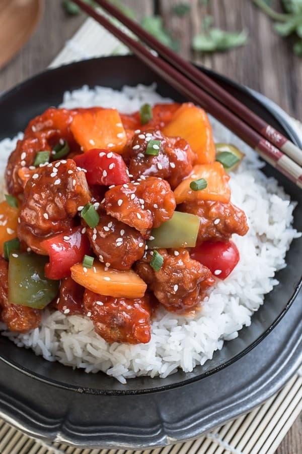 Slow Cooker Sweet and Sour Chicken (+ Instant Pot) MEAL PREP + Recipe VIDEO